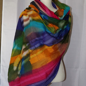 Colorful Handmade TYE DYE Huge Cotton Scarf Wrap